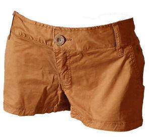 CréAtif Shorts Pantaloncino Bermuda Hot Pants Donna Casual Sexy Element Marroni Tg 40 41