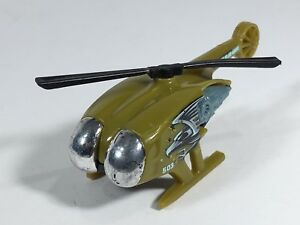 Hot-Wheels-Helicopter-Green-Justice-From-Above-Bird-Eagle-503-Malaysia-1995-Toy