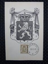 BELGIEN MK 1945 WAPPENLÖWE 1936 MAXIMUMKARTE CARTE MAXIMUM CARD MC CM a6653