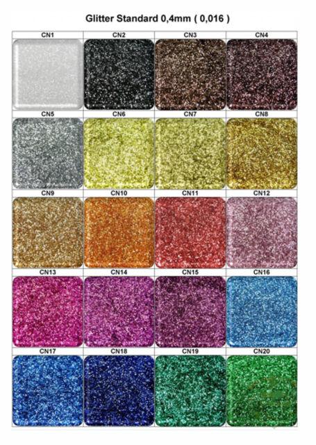 50g Glitter Glitterpuder Nail Art Glimmer Glitzer 20 Farben CN