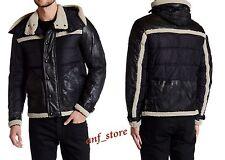 NWT Belstaff Morland Padded Blouson Mens Black LEATHER Jacket 42/52 $1995 ITALY