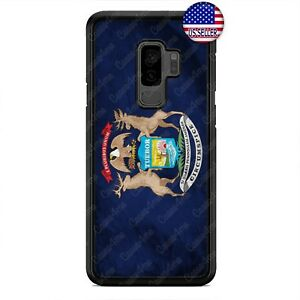 Michigan-Grunge-State-Flag-Rubber-Case-For-Samsung-Galaxy-S9-S8-Plus-S7-Edge-S6