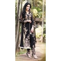 Partywear Black Dress Shalwar Anarkali Kameez Designer Indian Pakistani Wedding