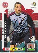 A Panini UEFA EURO 2012 card signed by Thomas Sorensen of Denmark.