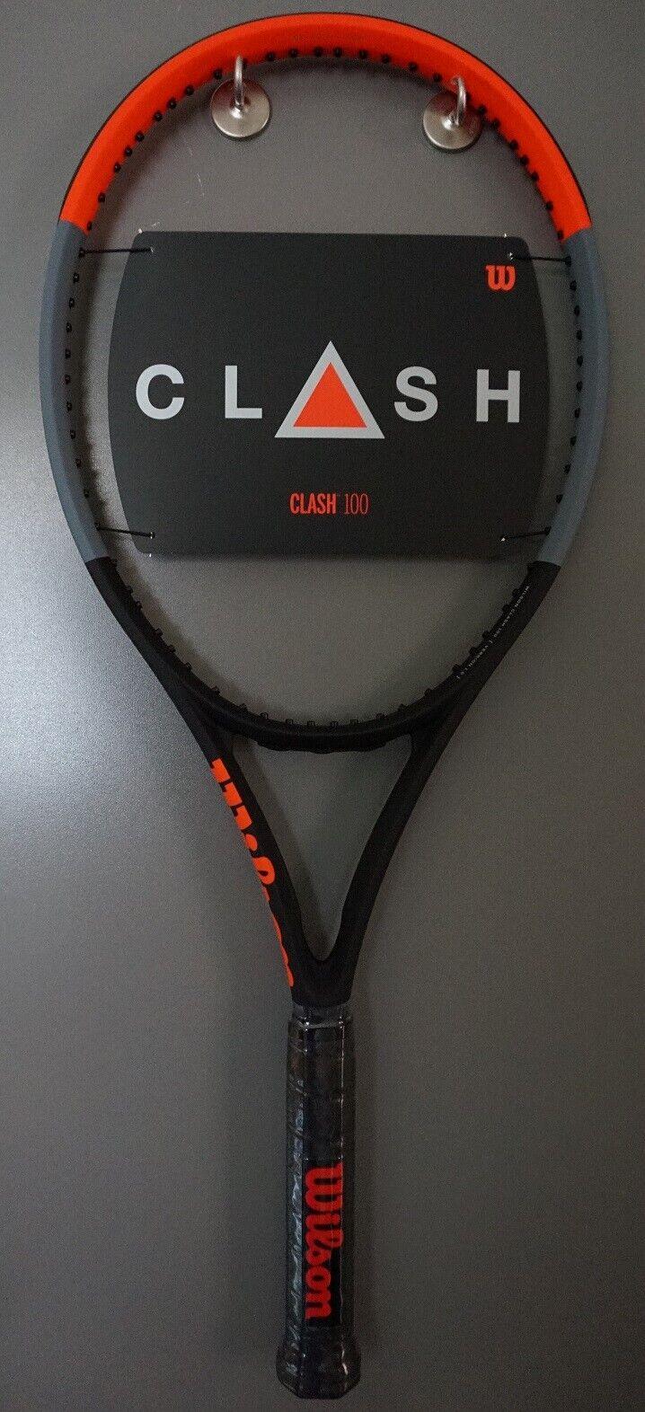 Neuf Wilson Clash 100 Raquette de tennis 4 1 2 L4 Raquette 16x19 2019