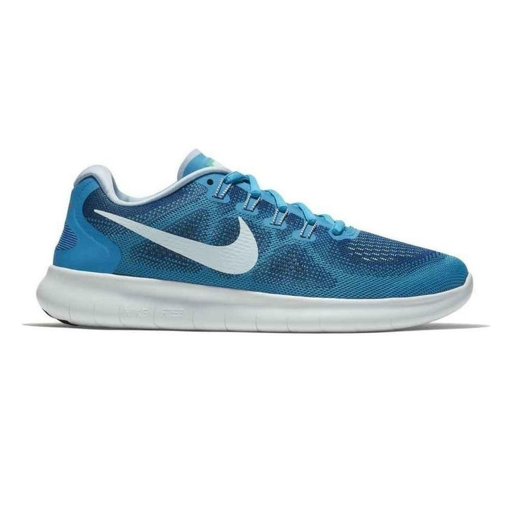 Womens NIKE FREE RN 2017 Gym Blue Running Trainers 880840 401