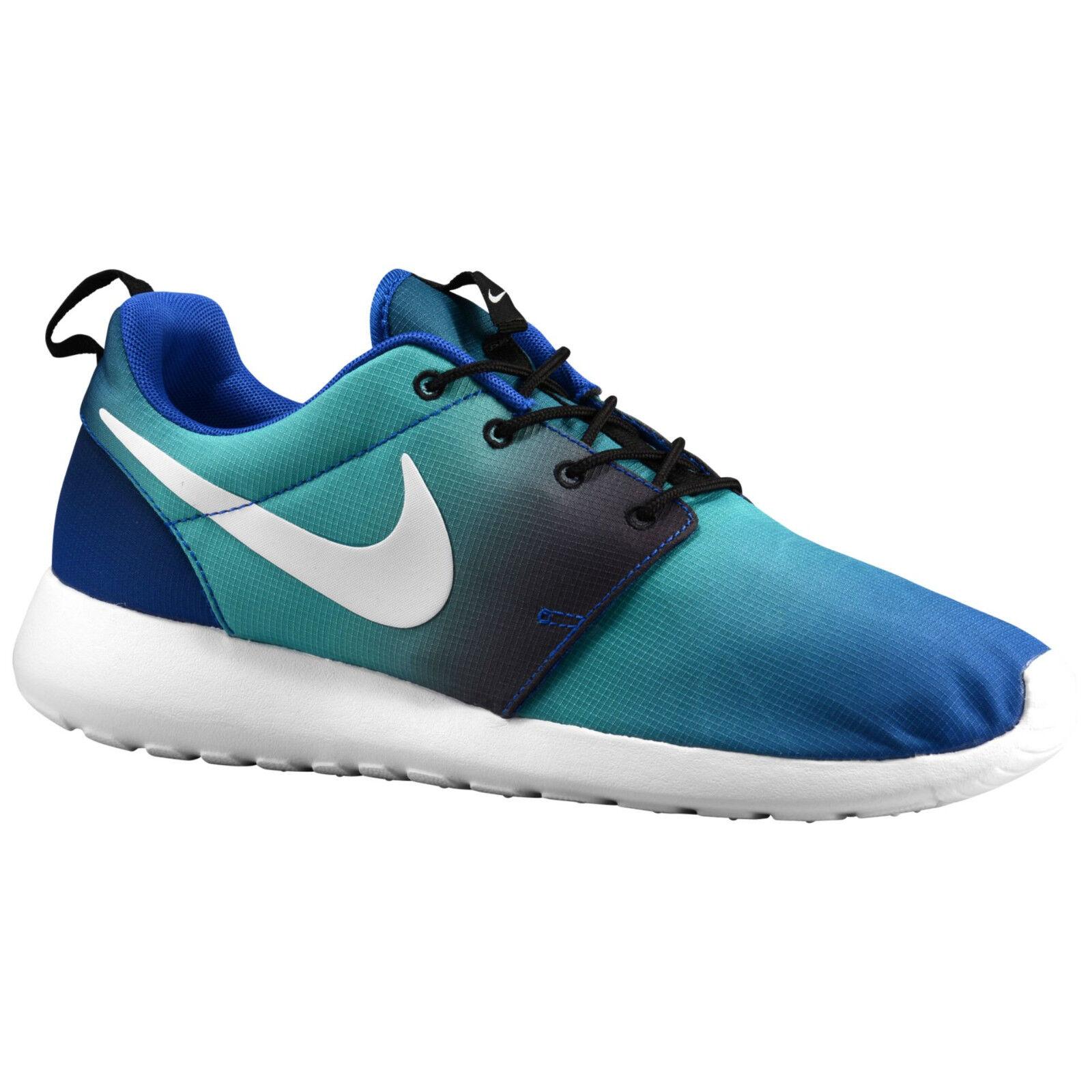 Nike Roshe ein Drucken Sz 11.5 Verblasst Königsblau Marineblau Weiß Farbverlauf Verblasst 11.5 7566c9