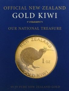 RARE ! ~ GOLD  KIWI ~ 1~OZ PURE .9999 GOLD ~ PAMP CERT ~ NEW ZEALAND ~ $1,598.88