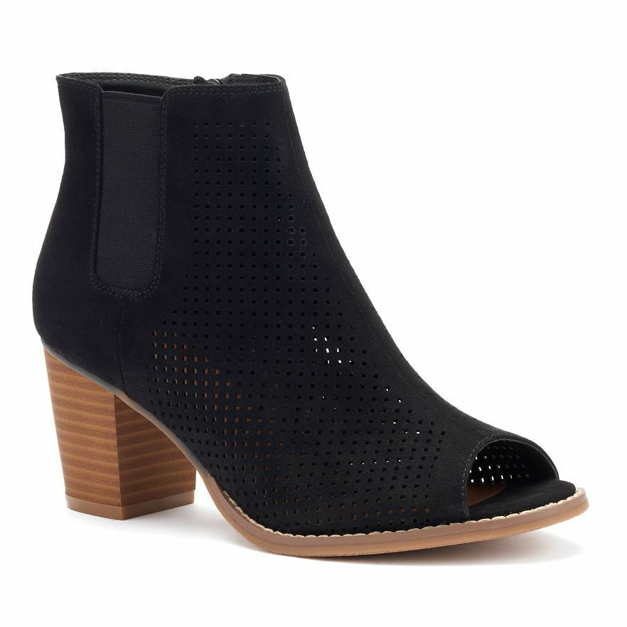 Neuf avec Étiquettes Femmes Sonoma Goods For Life Oriental Stacked-Heel
