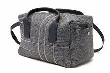 NWT$3370 Brunello Cucinelli Leather & Wool Tweed Monili Plaid Beaded 2+1 Handbag