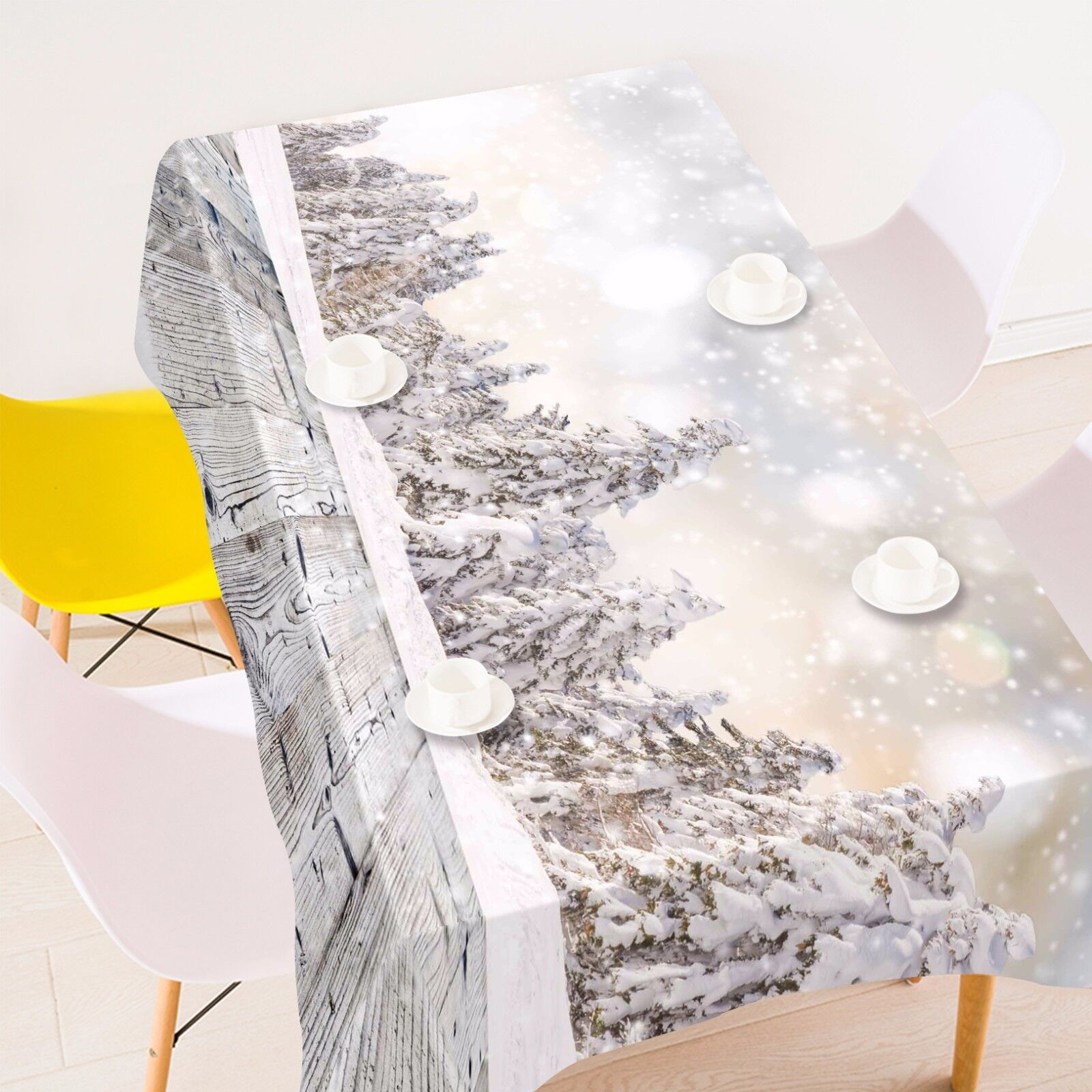 3D Snow 4545 Tablecloth Table Cover Cloth Birthday Party Event AJ WALLPAPER AU