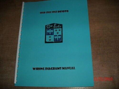 1950 1951 1952 Desoto Wiring Diagrams Schematics Manual