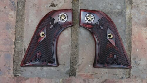 RUGER NEW MODEL VAQUERO ONLY ROSEWOOD GRIPS DE FLEUR WITH LONE STAR MEDALLION I