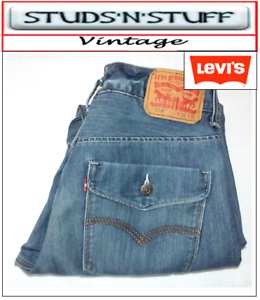 Vintage-Levis-514-039-S-Slim-Straight-Jeans-W-33-034-L-30-034-aprox-Taille-UK-12-14-T403