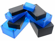 Genuine Hammond Blue & Black ABS Plastic Enclosure Project Box Case
