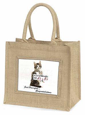 A Level Cat 'Congratulations' groß Natürliche Jute Einkauf Tasche, AC-188AL2BLN
