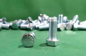 Stahl verzinkt Güte 8.8 8-150 mm M6 25 Stk Sechskantschraube DIN 933