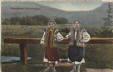 B78295 bucovina types folklore costumes woman femei ukraine   romania