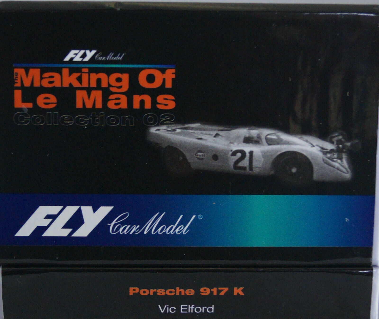 Fly Porsche 917K Making of Le Mans Vic Elford No 21 Gulf m. Kamera Neu in Box
