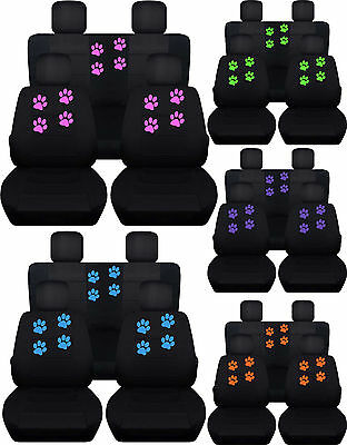 4 Door, Black Purple Designcovers Fits 2007 to 2010 Jeep Wrangler Jeep Paw Prints 22 Color Options