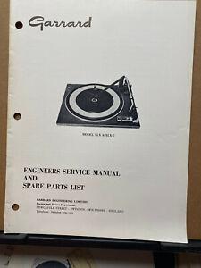 Original Service Manual for Garrard SLX SLX-2 X-10 Turntables ~Operating Ins