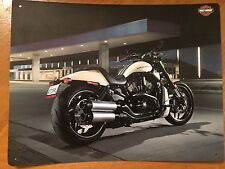Tin Sign Vintage Harley-Davidson Motorcycles Bike At Gas Station