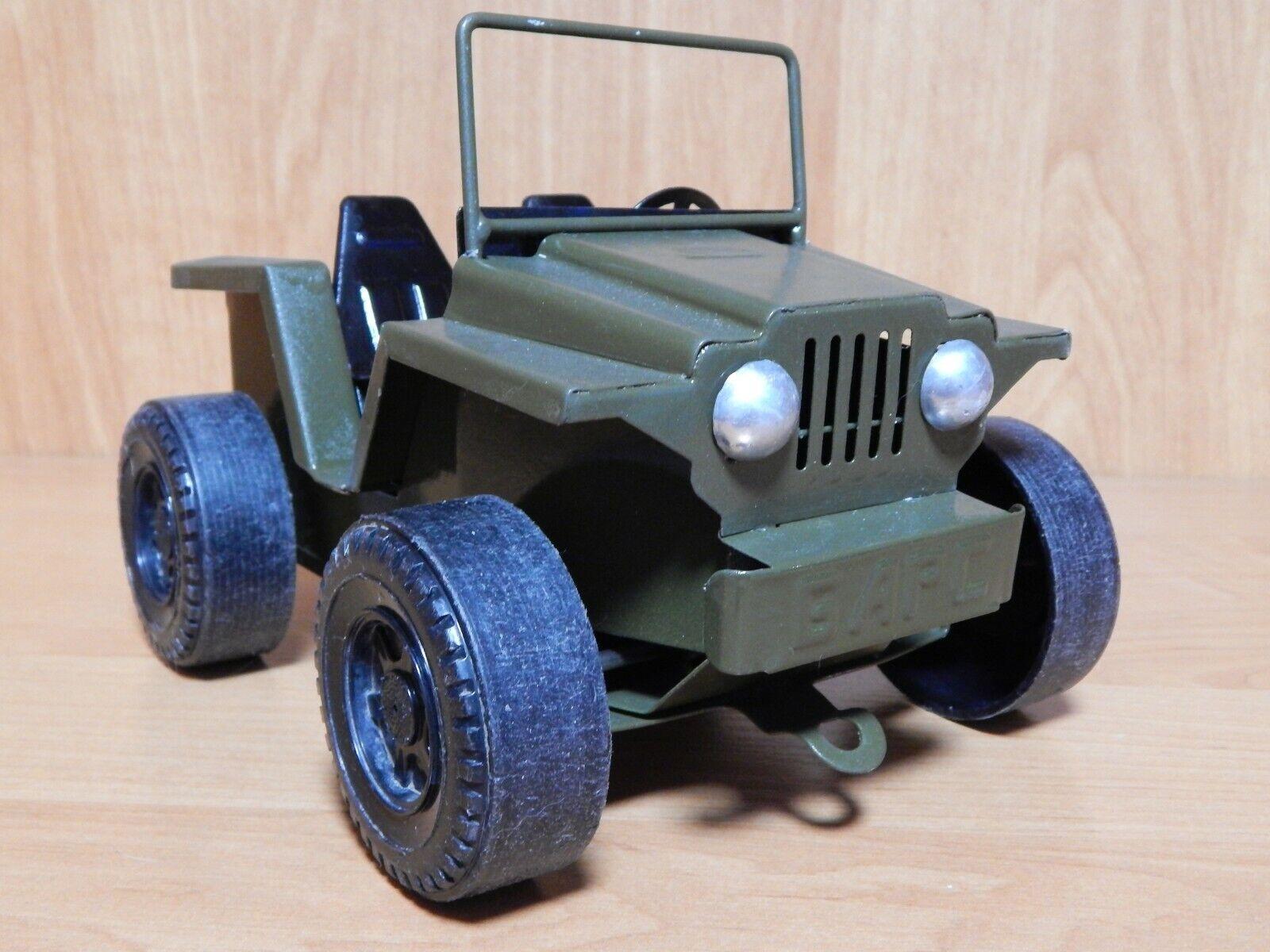 Vintage 70s Soviet Toy Tin Car Jeep Metal USSR. Length 21cm