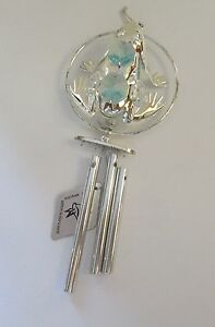 Wind-Chime-Frog-in-Circle-Austrian-crystals-silver-plated-light-blue-crystals