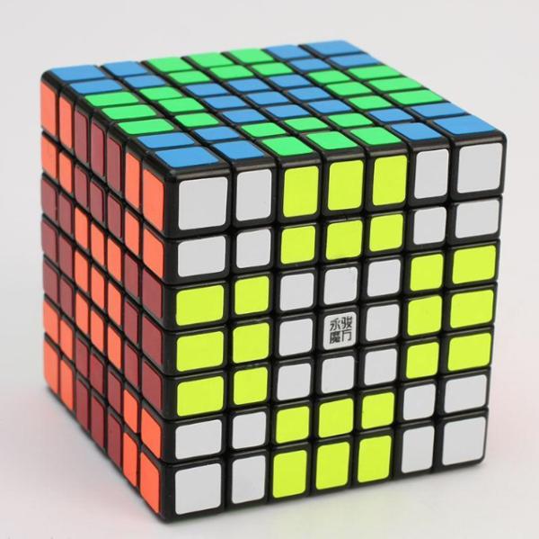 Brillante 7x7x7 Yongjun Guanfu Cubo, Cubo Di Velocità 7x7x7, Cubo Cubo 7x7x7-nero