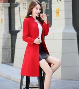 lana Cappotto giacca cardigan trench in donna lungo da Cappotto in lungo Elegante vqxw4qXE