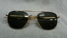 Mint vintage American Optical AO 52 20 mm gold plate pilot aviator sunglasses