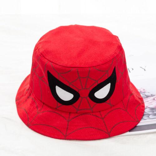 Baby Kids Cartoon Spiderman Sun Hat Bucket Summer Beach Boys Sun Protection Cap