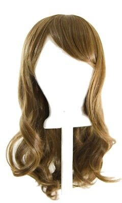 20/'/' Layered Loose Curly Cut w// Long Bangs Snow White Cosplay Wig NEW