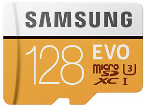 Samsung Evo 128GB 100mb/s microSDXC card with Adapter 128 GB  For 4K UHD Videos