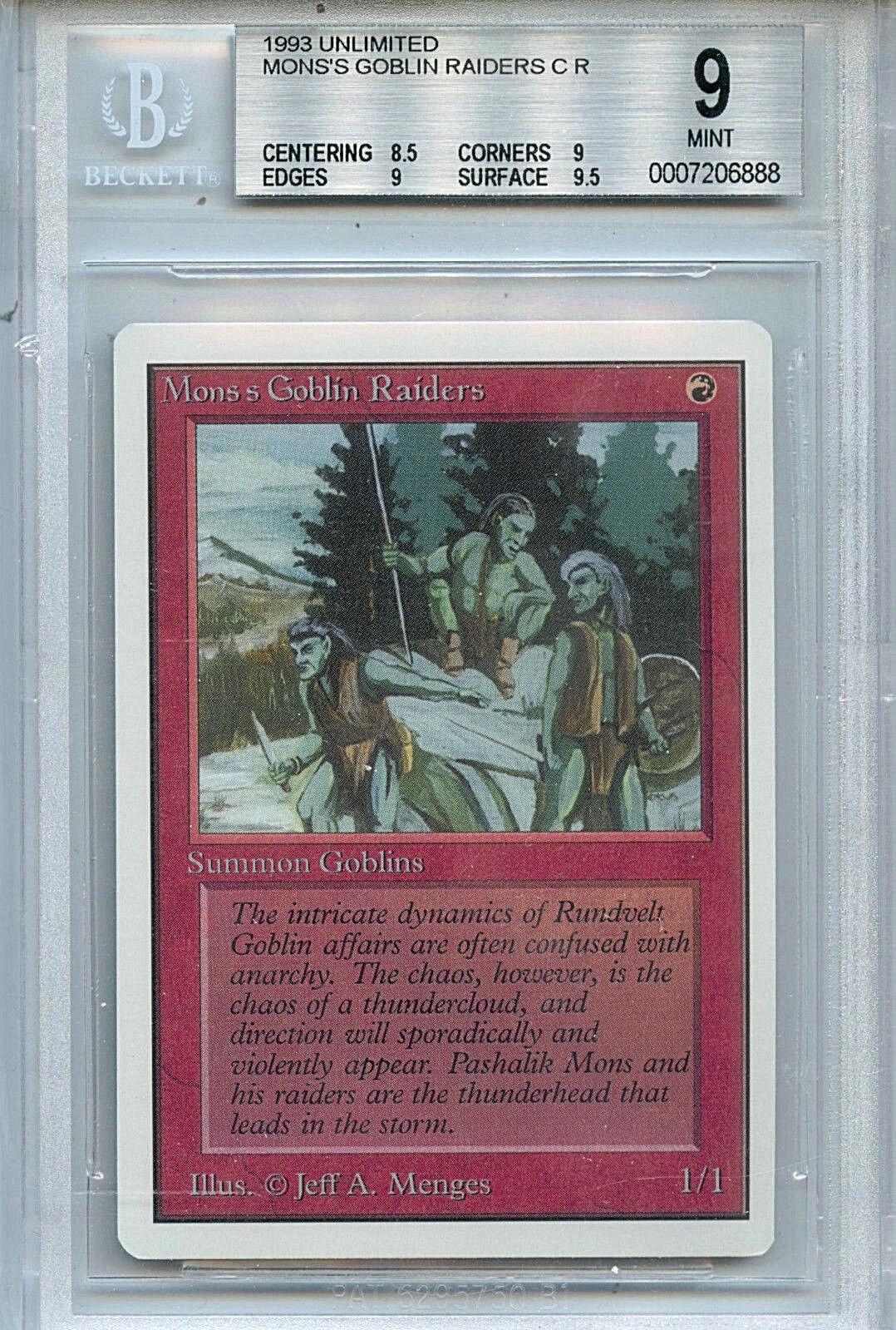 Mtg unbegrenzte mon ist der raiders magie wotc bgs 9,0 (9) - 6888