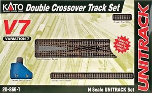 Kato-20-866-1-N-Scale-UniTrack-V7-Double-Crossover-Track-Set-208661