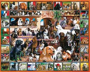 White Mountain Puzzles World of Dogs - 1000 Piece Jigsaw Puzzle
