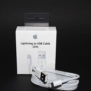 100 original apple iphone lightning 2m usb ladekabel. Black Bedroom Furniture Sets. Home Design Ideas