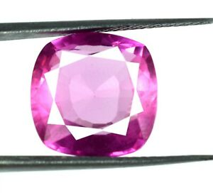 Padparadscha Pink Sapphire Gemstone 12.50 Ct Cushion Cut Natural Certified H6265