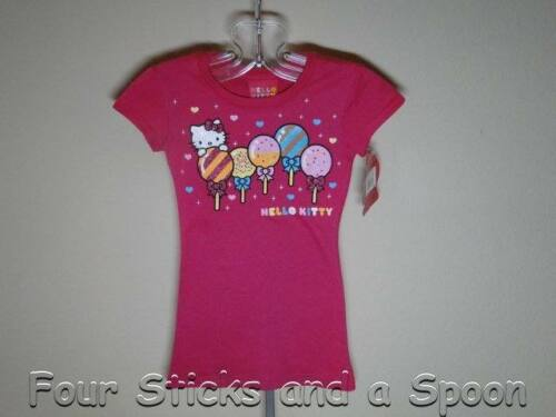 "4//5 /""NWT/"" Hello Kitty Sanrio ® Pink Pre-Teen Skinny T- Shirt Size: XS 5//6 S"