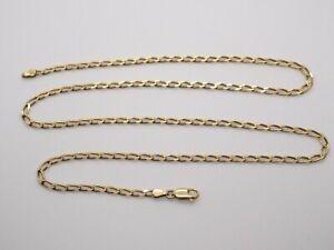 9CT oro Curb Enlace Collar Cadena de 22 Pulgadas. 375 características. 7.9 gramos. 2.7mm de ancho