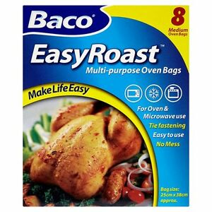 Image Is Loading 8 Baco Roasting Bags Multi Use Oven Microwave