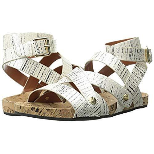 Rebecca Minkoff  225 Women's Tristen Gladiator Cork Sandal in Creme Size  7