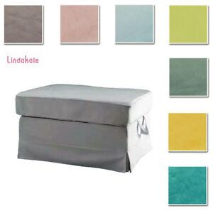 Custom-Made-Cover-Fits-IKEA-EKTORP-Footstool-Ottoman-Cover-Velvet-Fabric