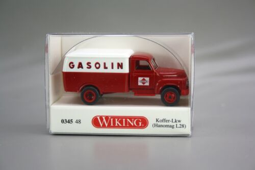 Wiking H0 1:87 Hanomag L28 Koffer LKW Gasoline rot 0345 48 NEU NOS OVP