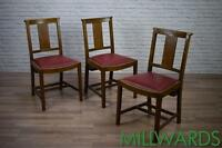 Vintage Oak Church Chapel Cafe Bar Rastaurant Dining Kitchen Chairs 52 AVAILABLE