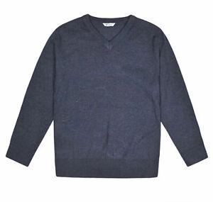 Kids-F-amp-F-School-Jumper-V-Neck-Sweater-Top-Unisex-Boys-Girls-Uniform-Age-3-16-Yrs