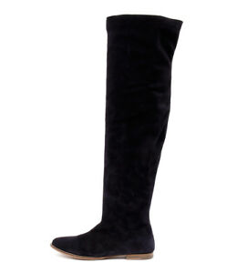 SOFIA CRUZ Oakley Navy Long Boots