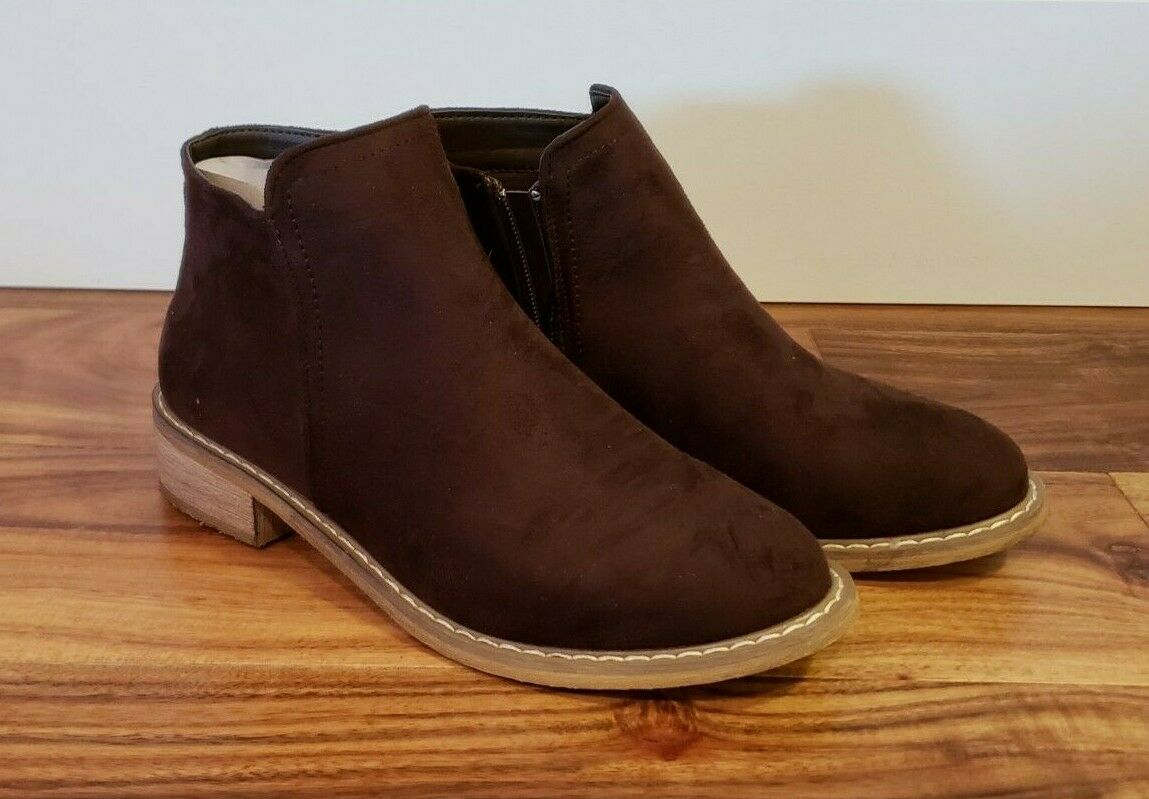 NEW Women's SEVEN Brown Cisco Kid Bootie Suede Ankle Boots Size 10 US