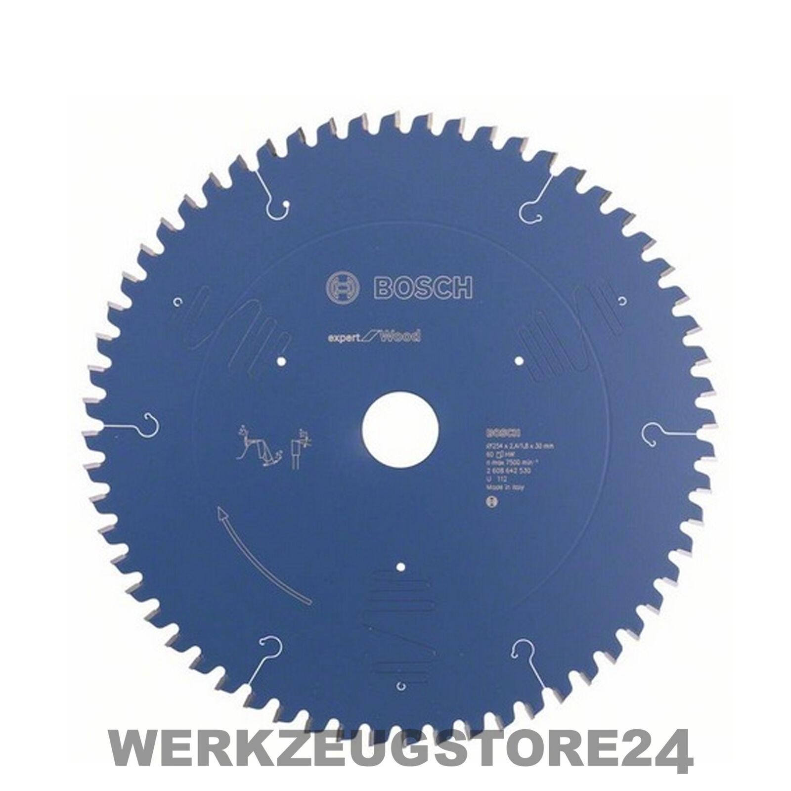 Bosch Kreissägeblatt Expert for Wood 254x30x2,4 1,8 mm 60T WZ 2608642530